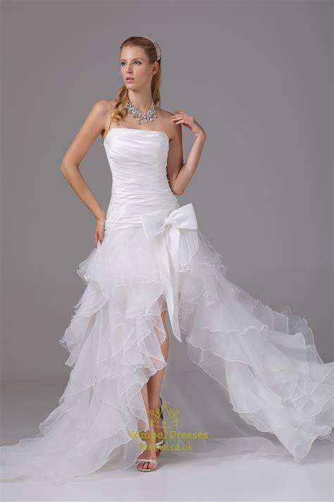 Organza Ruffle Wedding Dress Wedding Dresses With Slits