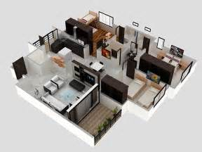 furniture in the kitchen 3 bhk apartment 3d interior design by zero designs