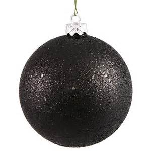 jet black holographic glitter shatterproof christmas ball ornament 4 100mm ebay