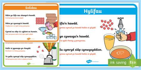 * New * Posteri Arddangos Solidau, Hylifau A Nwyon