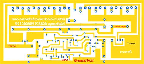 Transistor Audio Amplifier Circuit Diagram Electronics