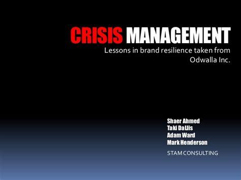 Odwalla Crisis Management Revised