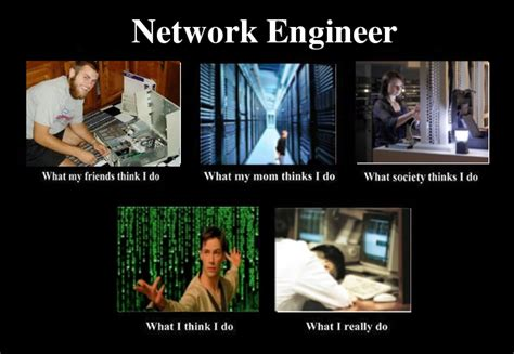Network Engineer Meme - kludge spot network engineer how people see me