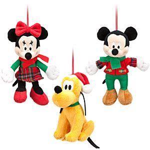 disney mickey mouse plush ornament set holiday disney