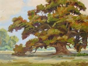 tom brown 12x16 inch oak tree painting by tom brown priced
