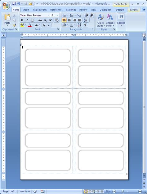 microsoft label templates shipping label faded borders macolabels