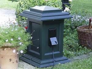 Steckdosen Im Garten : licht und steckdosen im garten au enbereich in einer s ule ~ Orissabook.com Haus und Dekorationen