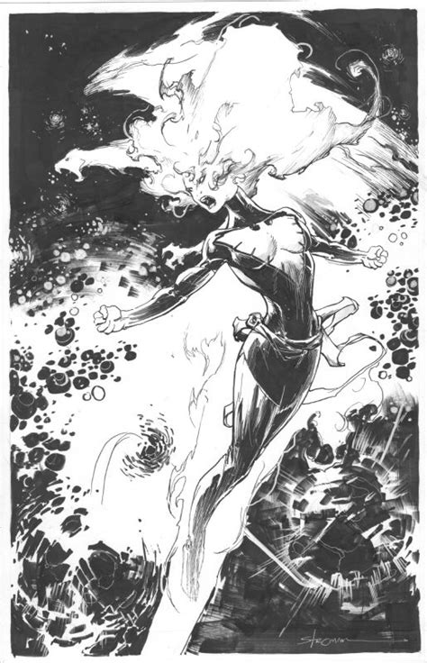 My Dark Phoenix/Jean Grey by Larry Stroman - Dark Phoenix ...