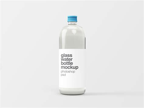It is perfect for designers, since they are easily editable via smart objects. Glass Water Bottle Mockup
