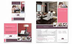 Interior designer flyer ad template word publisher for Interior design adverts