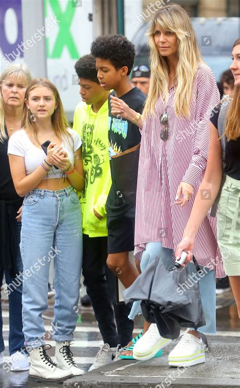 Henry, 15, johan, 14, and their daughter lou, 11. Heidi Klum children Leni Samuel Henry Samuel Editorial ...