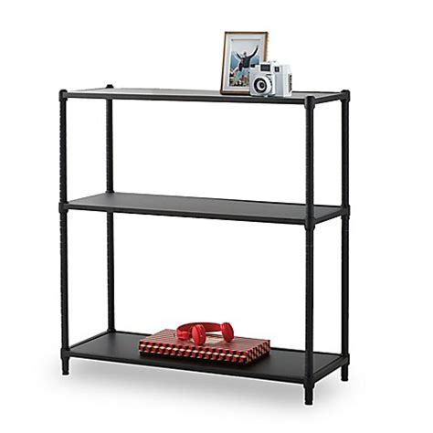 bed bath and beyond bookcase studio 3b metro 3 tier bookcase in black bed bath beyond