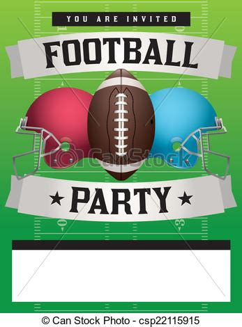 american football party template illustration american