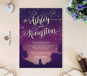 25 best ideas about purple wedding invitations on With wedding invitation templates stars
