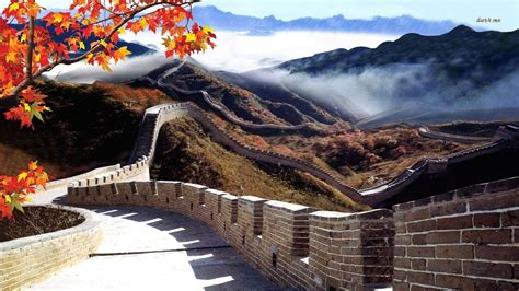 Wallpaper For Iphone Plus Great Wall Of China Wallpaper And Background 1366x768 Id 482719