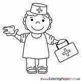 Nurse Colouring Sheet Coloring Sheets Title sketch template
