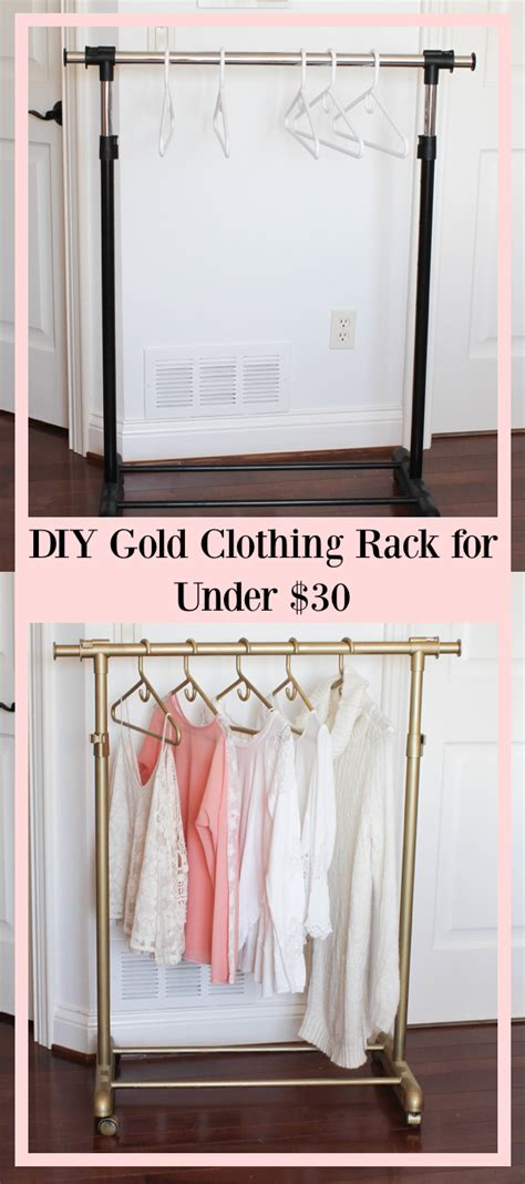 gold clothing rack diy gold clothing rack 30 daily dose of charm