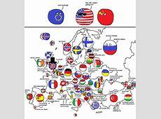 Europe according to Polandball polandball