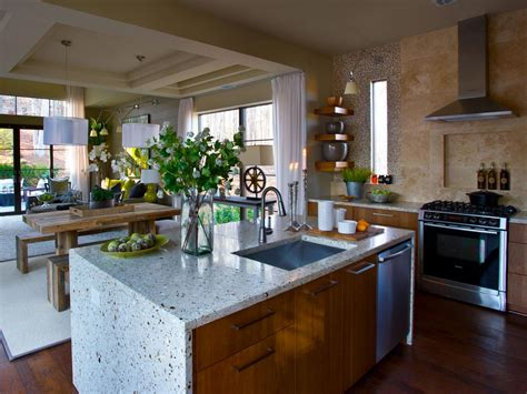 Islands Dining Room by Contemporary Kitchen With Custom Terrazzo Island