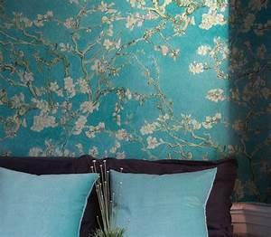 Papier Peint Repositionnable : 17 meilleures id es propos de papier peint turquoise sur ~ Zukunftsfamilie.com Idées de Décoration