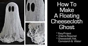 How, To, Make, A, Floating, Cheesecloth, Ghost