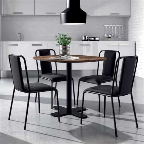 table cuisine 4 pieds table ronde pour cuisine en stratifié avec pied central