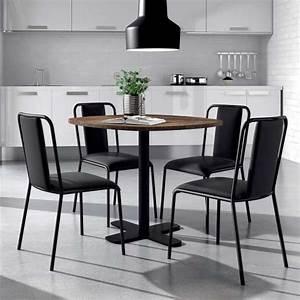 Table De Cuisine Grise : table ronde pour cuisine en stratifi avec pied central spinner 4 ~ Dode.kayakingforconservation.com Idées de Décoration
