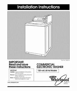 Whirlpool Ca2762xyw0 User Manual Commercial Automatic