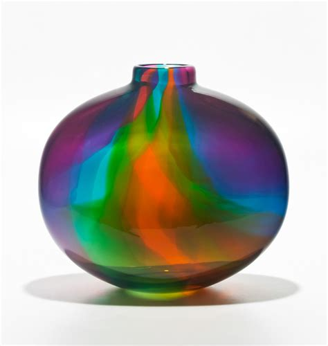colored glass vases color ribbon vase by michael trimpol and