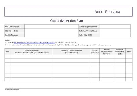 corrective plan template sle letter of corrective just b cause