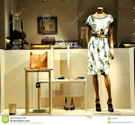 hermes fashion store  italy editorial stock photo