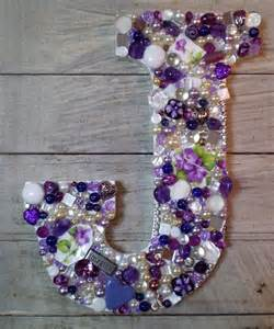 Jeweled Mosaic Alphabet Letter