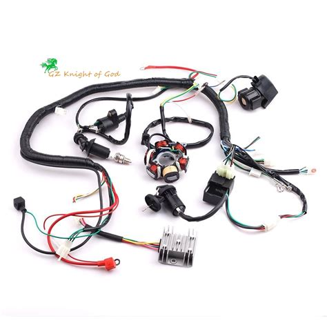complete electrics wiring harness wire loom magneto stator for gy6 4 stroke engine type 125cc