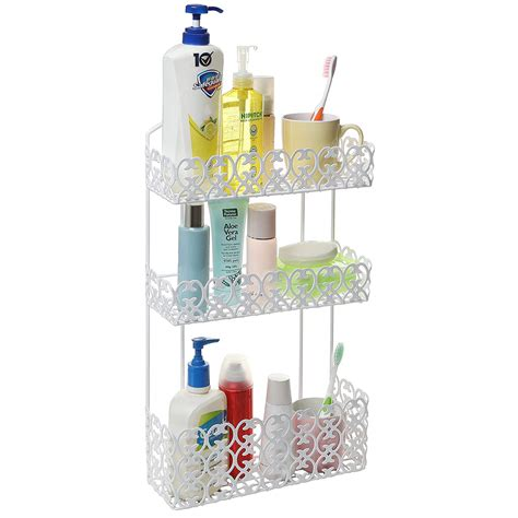 Bathroom Shelves Decorative Wall Mounted 3 Tier Shelf