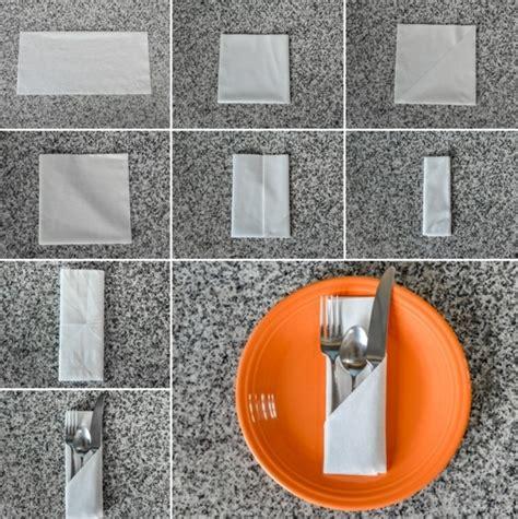 Servietten Falten Bestecktasche by Servietten Falten Mit Besteck Wohn Design