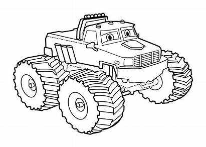 Truck Cartoon Monster Awesome Coloring Pages Printable