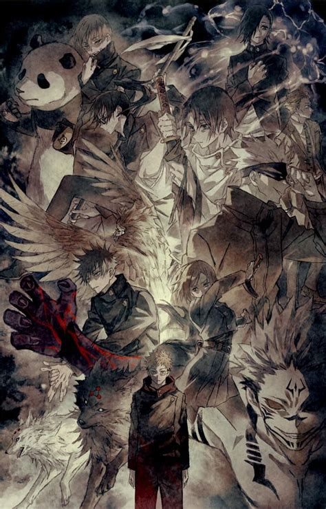 twitter jujutsu anime wallpaper japanese drawings