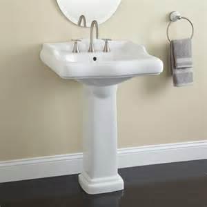 dawes porcelain pedestal sink bathroom