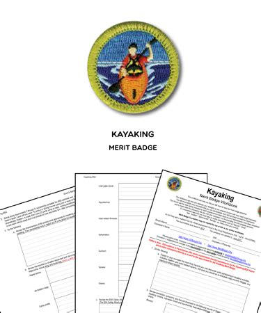 kayaking merit badge worksheet requirements