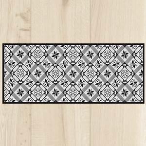 Tapis De Cuisine Design : tapis cuisine carreaux black ~ Teatrodelosmanantiales.com Idées de Décoration