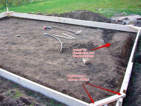 gartenhaus fundament bauen gartenhaus fundament tag 1 vorbereiten und schalung bauen