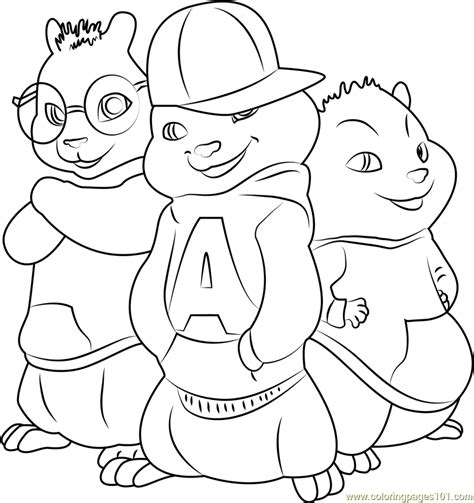 Alvin And The Chipmunk Coloring Pages The Chipmunks Coloring Page Free Alvin And The Chipmunks