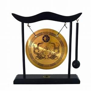Zen Art Brass Feng Shui Desktop Gong Dragon Gong H1303-in