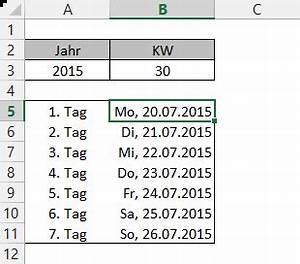 Kalenderwoche Berechnen : der erste tag einer kalenderwoche der tabellen experte ~ Themetempest.com Abrechnung