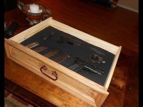 diy nightstand  secret compartment  gun storage pt