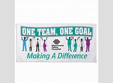 One Team, One Goal, Making A Difference Beach Towel