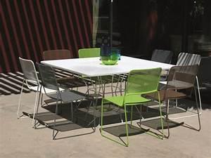 Grande Table De Jardin : table jardin carre l 39 habis ~ Teatrodelosmanantiales.com Idées de Décoration