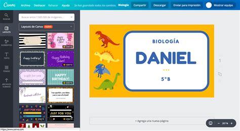 Diseña etiquetas para cuadernos online gratis Canva
