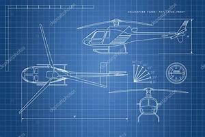 Technische Zeichnung Ansichten : technische zeichnung hubschrauber auf blauem grund drei ansichten stockvektor shain 124928706 ~ Yasmunasinghe.com Haus und Dekorationen