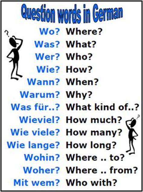 german question words wo was wer wie wann warum was fur wieviel wie lange wohin woher